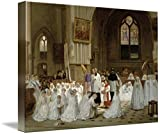 Wall Art Print entitled First Communion, 1867 by The Fine Art Masters | 48 x 34