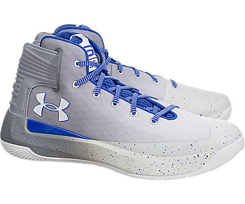 Under Armour Men's Curry 3 Basketball Shoes, Grey, Size 8.5