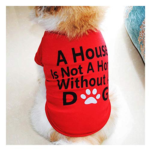 Petea Pet Clothes Dog Cat Footprint Cotton T-Shirt Puppy Cute Summer Apparel for Dogs and Cats