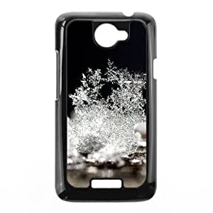 Snow Macro Close up HTC One X Cell Phone Case Black Delicate gift AVS_540814