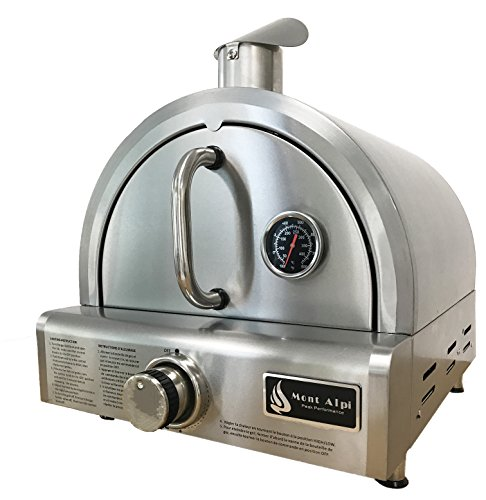 Mont Alpi Mapz Ss Table Top Gas Pizza Oven Large