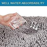H.VERSAILTEX Grey Rugs for Bathroom Slip-Resistant