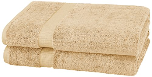 (Pinzon Organic Cotton Bath Sheet (2 Pack), Sand)