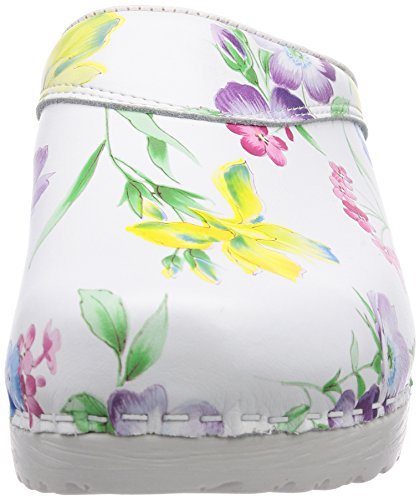 Donna Clogs Da Zoccolo Flexible Gevavi Mit bloem 91 36 Bighorn weiß 3900 weiss Blumenmotiven Bianco zqwBgnZF