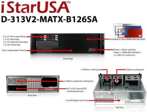 iStarUSA D-313SE-MATX-B126SA KIT-3U Compact Rackmount