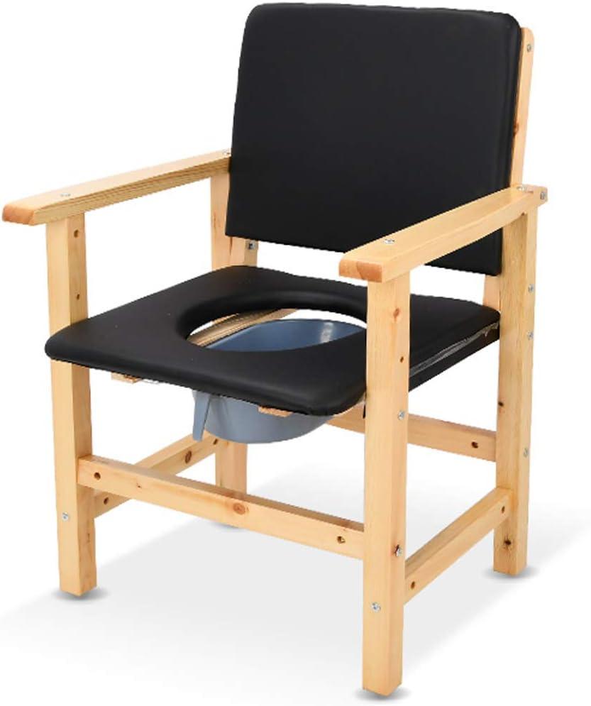 Amazon.com - Elderly Comfortable Wooden Commode Chair, Bathroom