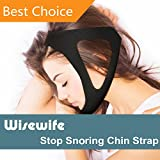 Anti Snoring Chin Strap - The premium bedtime snore solution - Adjustable belt for men, women ,kids. A safe simple effective sleep aid. Stop Snoring Device by Wisewife™