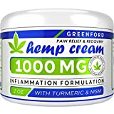 Pain Relief Hemp Cream 1000 Mg - Hemp Extract Cream for Inflammation