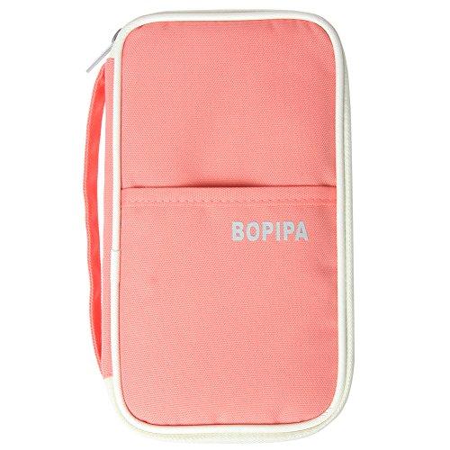 Bopipa Women's Portable Multiple Family Travel Passport Wallet & Documents Organizer Pockets, Passport Holder Clutch
