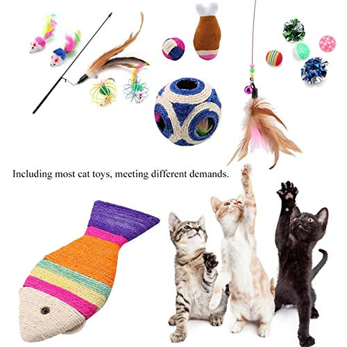 Amazon.com : Best Quality 16pcs pet cat Toy Teaser Multi Color Bird Feather Plush cat Mouse Rat Wand cat Catcher Teaser Stick cat Interactive Ball Toys ...