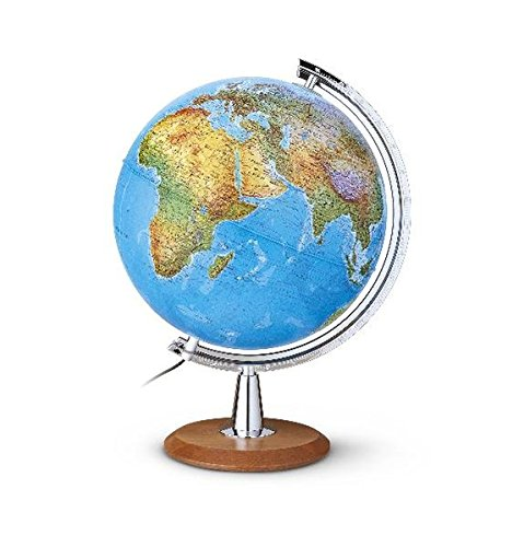 DP 4029 Leuchtglobus: Großer Leuchtglobus 40 cm Durchm., Doppelbild, verchromter Meridian, Echtholzfuß (Klassischer Globus) Landkarte – Globe, 1. April 2014 TDL Räthgloben 1917 3934922333 Geographische Qualifier