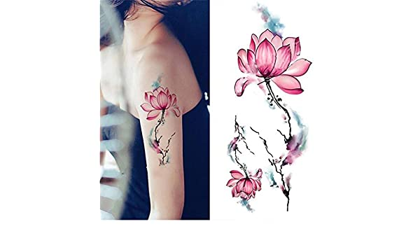 coulorbuttons 1 hojas impermeable tatuajes temporales adhesivo DIY ...