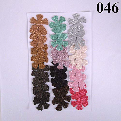 36 Colorful Vinyl Die Cut 1 inch Crafting Flowers from Suzanne Medrano