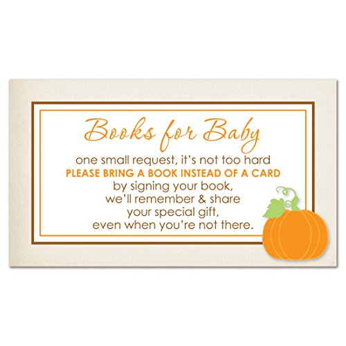 MyExpression.com 48 Little Pumpkin Rustic Border Bring A Book Card by MyExpression.com