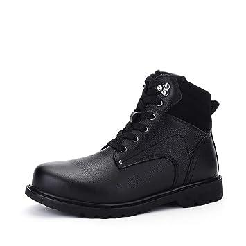 HILOTU Bota de Vestir Casual de Invierno para Hombre Zapatos de Vestir Cómodos Clásicos para Hombres