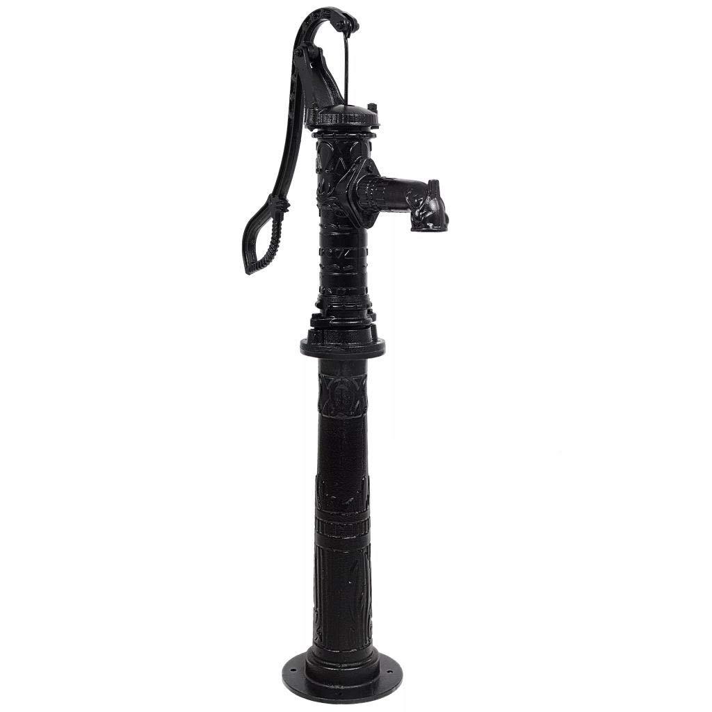 vidaXL Garden Water Pump with Stand Cast Iron Outdoor Patio Hand Hardware