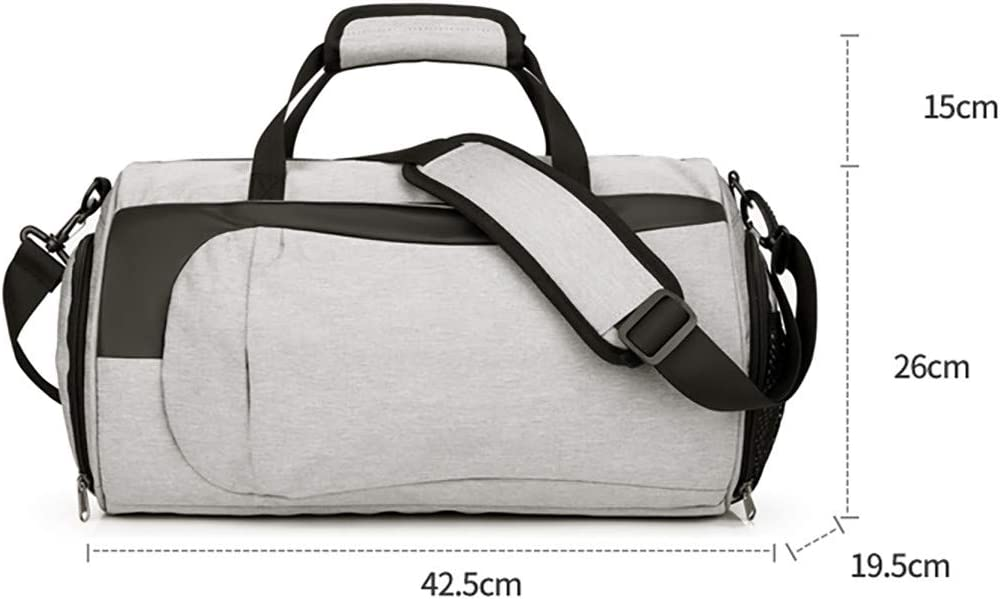 Gray-39,Freesize Accovy Dry And Wet Separation Sports Fitness Bag Travel Handbag Bag For Men Women