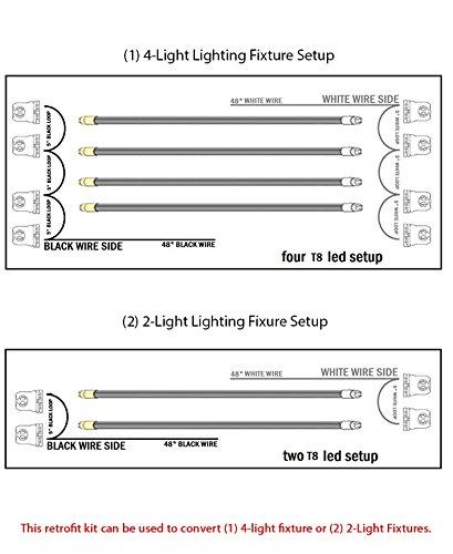orilis 4 light fluorescent to led retrofit conversion kit. Black Bedroom Furniture Sets. Home Design Ideas