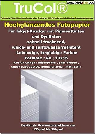 50 hojas de papel fotográfico A4 240g / m² brillante. Se ...