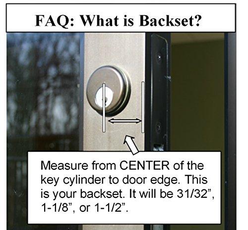 Storefront Door Mortise Lock Swing Deadbolt & Cylinder Combo, Adams Rite Cam, in Aluminum (1-1/8 BACKSET) by Pacific Doorware (Image #1)