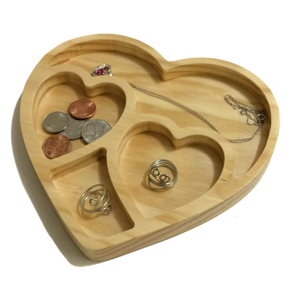 Heart Shaped Trinket Dish Love Engagement Ring Holder Wedding Gift Ring Dish Bead Sorter Jewelry Tray