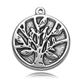 REAMOR 5pcs 316l Stainless Steel Sacred Life Tree Pendants Charms For DIY Bracelets Jewelry Making