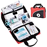 115 Piece First Aid Kit Medical Supply Survival Gear Bag for Car Home Office Outdoor Camping Hiking Travel Sports Earthquake Emergency Kits by Reebow Gear