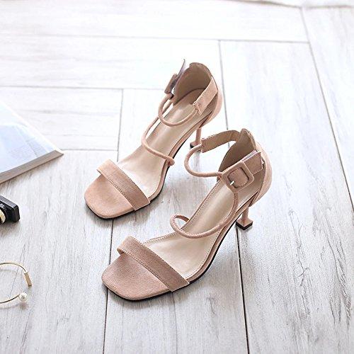 Para Zapatos Dedo Del Altos Talones De Tobillo Mujeres Rosa Gatito Señoras  Abiertos Talón Pie Las Ruiren Los Sandalias gSwzBcFqZZ 91574128a7b7
