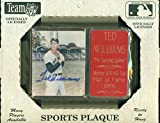 """Ted Williams Autograph Plaque with COA Boston Red Sox Hand Signed Auto 6"""" x 8"""" - Baseball Autograph"""