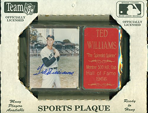Ted Williams Autograph Plaque with COA Boston Red Sox Hand Signed Auto 6