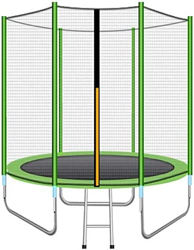 SLRMKK Trampolín, Trampolín Exterior de 8 pies / 10 pies / 12 pies Trampolín Premium con Caja de Seguridad, Red, Escalera y Kit de Anclaje, Verde, 12 pies: Amazon.es: Hogar