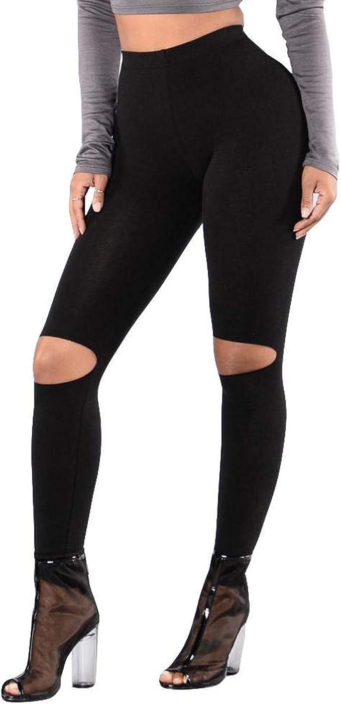 VJGOAL Moda Casual de Color sólido Pantalones de Yoga de Alta ...