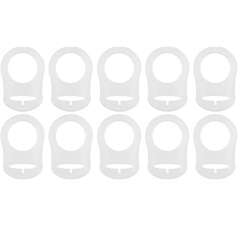 MagiDeal 10pcs Anillo De Silicona Chupete MAM Botón Simulado ...