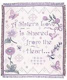 """A Sister's Love"" Garden Afghan Throw Blanket 48"" x 60"""
