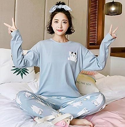 Syksdy Adorable Gato Imprimir Pijama Feminino Aummer Mujeres Pajama Establece Las Niñas Conjuntos De Ropa De