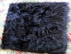 Amazon.com: Fur Accents Shaggy Mongolian Faux Fur Area Rug ...