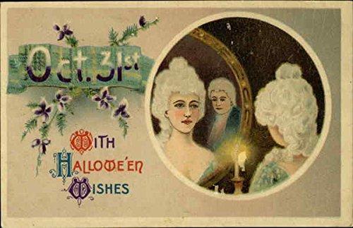 Oct. 31st, With Halloween Wishes Original Vintage Postcard]()