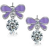 Gleader Fashion Multicolour Rhinestone Butterfly Retro Ear Studs Earrings 1 Pair