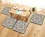 UHOO2018 Universal Chair Cushions Vector Tribal Mexican Style Ethnic Vintage Indian Background Personalized Durable W15.5 x L15.5/4PCS Set