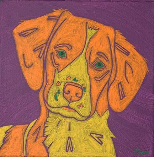 (Brittany Spaniel Art - I Feel Pretty - Dog Pop Art by Angela Bond)