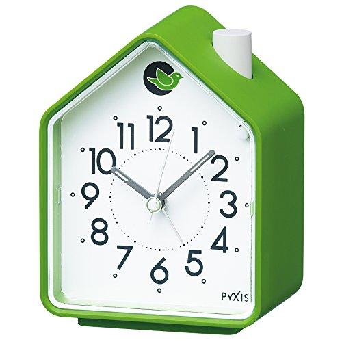 Analog Alarm Clock Chirping Bird Green NR434M by (Bird Sound Alarm Clock)