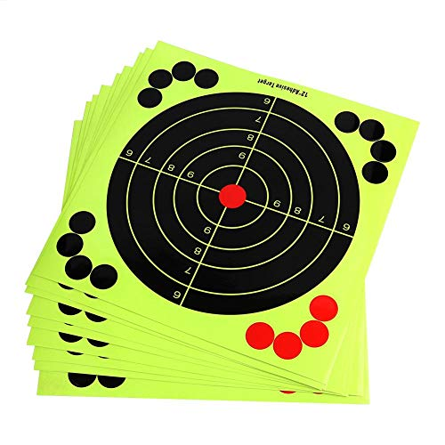 10pcs Gun /& Rifle Shooting Target Paper Stickers Reactivity Training Aim Papers