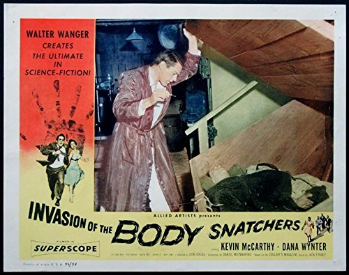 INVASION OF THE BODY SNATCHERS KEVIN McCARTHY SCIENCE FICTION 1956 LOBBY CARD