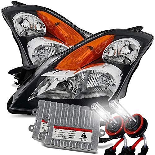Modifystreet 6000K 55W HID/For 07-09 Nissan Altima Sedan Black Crystal Headlights Left/Right Assembly