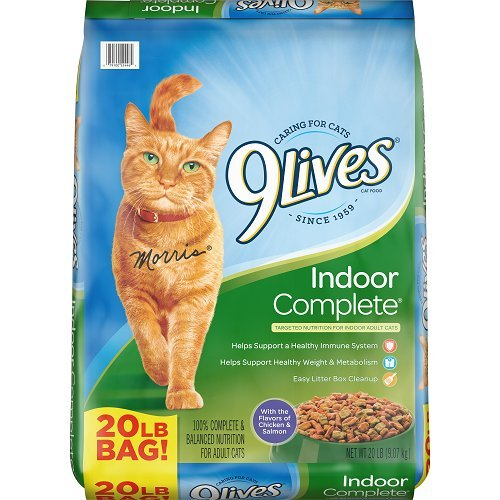 9Lives 20 Lb Indoor Complete Dry Cat Food, Large