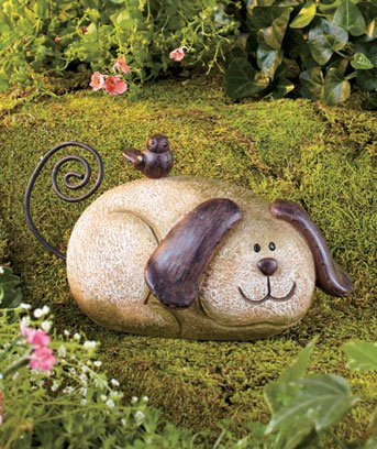 Stone Garden Dog Lawn Ornament