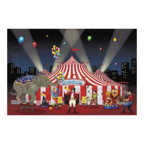 Red Curtain Backdrop Photo Prop Wall Mural MOVIE circus magic STAGE show (Halloween Photo Op Cutouts)