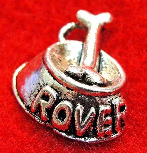 50Pcs. Wholesale Tibetan Silver Dog ''Rover'' Dish Bone Charms Pendants Q1311 Crafting Key Chain Bracelet Necklace Jewelry Accessories Pendants