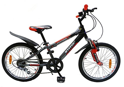 Lesute(ラシュット) フェニース 子供用自転車 6段変速 調節可能サドル 前と後ろブレーキ付き もっと安全 スタンド型 軽量 高炭素鋼フレーム 組み立て簡単20インチ 新入学 全2色 (オレンジ) B01H02HPVC オレンジ オレンジ