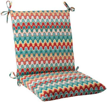 Pillow Perfect Outdoor Nivala Squared Chair Cushion, Blue